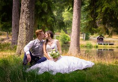 Wedding time (A.K. 90) Tags: wedding hochzeit marriage marry bride groom shooting shoot couple love lovely kiss portrait weddingphoto weddingphotography paar liebe heirat outside nature natur water see people human sonyalpha6300 fe85mm18 outdoor