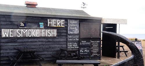 Fish shop on Aldeburgh beach
