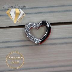 Boucles d'oreilles coeur argent (olivier_victoria) Tags: argent 925 oreille zircon coeur brillant boucle boucles doreilles