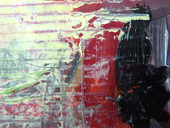 cardboard magic (MizzieMorawez) Tags: acryl painting art intuitive speedpainting cardbord recycling paper automatic colorful experimental explosive