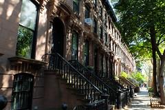 Clinton Hill Brownstones (ho_hokus) Tags: 2019 brooklyn fujix20 fujifilmx20 newyork home brownstone usa clintonhill road street avenue houses stoop steps