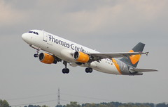 Thomas Cook EC-MVF Airbus A320-212 flight DE1614 departure from Dusseldorf DUS Germany bound for Chania CHQ Crete (japes10) Tags: dusseldorf dus chania chq de1614 thomas cook ecmvf airbus a320212 flight departure from germany bound for crete