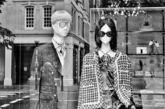 Designer reflections in Sloane Street, London.... (markwilkins64) Tags: london sloanestreet chanel designer shop window shopwindow reflection streetreflections streetphotography street blackandwhite monochrome mono bw suit shoes markwilkins reflections uk belgravia mannequins fashion