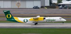 DHC-8 | N407QX | PDX | 20111006 (Wally.H) Tags: bombardier dehavillandcanada dhc8 dash8 n407qx horizonair university oregon ducks pdx kpdx portland airport