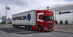 NextGen 1.8 and early Christmas Tree (gripshotz) Tags: shipping dk krone mega liner skin scania 6x2 de koning euro truck simulator ets 2