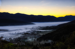 Foggy Wake Up & View (orkomedix) Tags: canon eosr rf24105f4l sunrise morning fog valley view sky contrast phototrip outdoor color trees homoljac