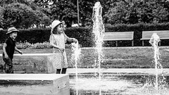 happiness of childhood (Lцdо\/іс) Tags: children child games water luxembourg street blackandwhite black noiretblanc white bw play waterfall happy happiness innocent lцdоіс