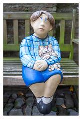 Friends (leo.roos) Tags: beeld sculpture bench art boy blue veere walcheren zeeland kunst bank sculptuur 35 arty blau manu prime a7 voigtlandernoktonclassicsc35mmf14vm cosina cv mmount nokton3514 voigtlander3514 darosa leoroos keramiek ceramics