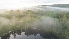 Good Morning! (laurilehtophotography) Tags: jyväskylä centralfinland finland suomi fog mist landscape nature mountain forest lake house clouds eearly morning sunrise dji mavic pro fc220 amazing europe