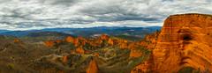 Las Médulas (David Ramalho) Tags: spain panorama landscape orange clouds ponferrada mountains mine mining romans