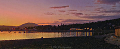 Nightfall in Rhu (Rollingstone1) Tags: rhu scotland marina night evening nightfall sunset sky clouds hills mountain gareloch buildings lights reflections vivid colour water loch shore shoreline boats yachts wall outdoor art artwork