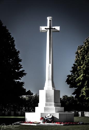 Bayeux War Cemetery Battle Cross