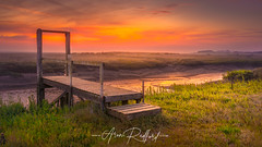 Thornham Jetty (Aron Radford Photography) Tags: yellow thornham old harbour north norfolk east anglia sunrise dawn jetty low tide landscape seascape nature outdoors rural countryside