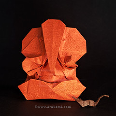 Origami Ganesha by Himanshu (Himanshu (Mumbai, India)) Tags: origami ganesha himanshu mumbai india ganpati orukami origamihim art paper papel papier paperfolding contemporary modak mooshak elephant mouse handmade