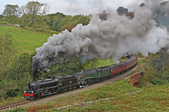 62005 and 60009 Union of South Africa (gareth46233) Tags: 62005 k1 60009 a4 lner unionofsouthafrica darnholme goathland nymr north yorkshire moors railway clag smoke