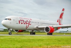 AIR CANADA ROUGE B767 C-GEOU (Adrian.Kissane) Tags: canadian 767 airport arriving taxing ireland aviation sky outdoors boeing airline airliner jet plane aircraft aeroplane 30108 1662019 b767 cgeou dublin dublinairport aircanada