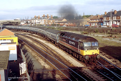 47555 leaving Hereford on the 20-01-1990. (Robert Lewis(railhereford)) Tags: 47555 47126 d1717