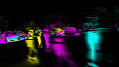 Scooter traffic (subtractive filter HSE) (Thiophene_Guy) Tags: thiopheneguy originalworks olympusxz1 xz1 colour colors colours rainbow color surreal thsfeset harrisshutter effect rainbowcolors kinetic dynamic dynamism action motion movement aleatoric subtractivefilter subtractivefilterhse subtractivedifferenceharrisshuttereffect negativespace composite