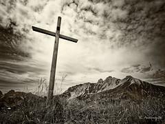 Col di San Giacomo (sergeaussagues) Tags: cross mountain nature religion sky heaven christianity rock faith mount alps symbol summer god christ dolomiti ngc