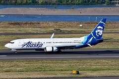 N565AS B737-890 cn 35181 Alaska Airlines 190903 Portland International 1001 (Kodak 260) Tags: n565as b737 alaskaairlines portlandiap pdx aviation nregister airliners civil commercial