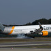 Condor D-ABUO touching down, Thomas Cook sticker