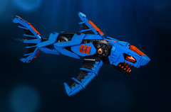 SHARKtember: MEGA Shark Scout (roΙΙi) Tags: lego aquasharks shiptember ship moc afol sharktember