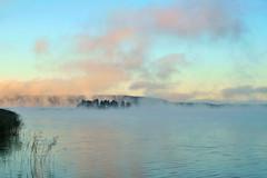 Frosty dawn. Riekkalansaari Island (Greek Island) (anytime-anywhere) Tags: autumn karelia karjalan 2014 october sony lake ladoga dawn