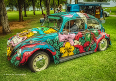 SlumBugMillionaire (Kool Cats Photography over 12 Million Views) Tags: artistic art abstract vw colorful flowers bug beetle carshow classic ricohgrii landscape hdr oklahoma photography photographicart grass green graffiti grafitti