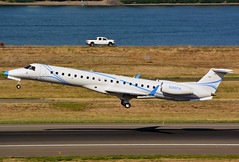N286FM Emb145XR cn 1186 Intel Air Shuttle  Aircraft 190903 Portland International 1002 (Kodak 260) Tags: n286fm emb145 intelair nregister aviation commercial portlandiap pdx