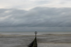 Dull (syf22) Tags: dull boring seascape horizon longexposure bore blunt still listless liveless dim lacking motion sluggish slow unintense insensible barrier groyne marker divider fence