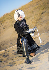 _MG_1489 (Mauro Petrolati) Tags: sara nox blade noxblade cosplay cosplayer set desert map nierautomata nier automata 2b android
