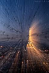 Lueurs Parisiennes (bertrand kulik) Tags: abstract night eiffeltower paris oneshot france rain window pluie weather météo vitre