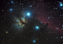 NGC 2024 the Flame Nebula and  Barnard 33 the Horsehead Nebula (Christian Dionne) Tags: ngc2024 barnard33 orion flamenebula horseheadnebula nikon d500 nikkor 500mm aip darksky astrophotography quebec canada astropixelprocessor macbookpro astrodslr cloudmakers