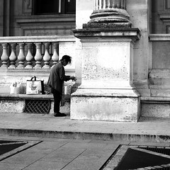 Washing his hands (pascalcolin1) Tags: paris homme man mains hands water eau washing lavant photoderue streetview urbanarte noiretblanc blackandwhite photopascalcolin 50mm canon50mm canon