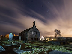 St Thomas' Church, Friarmere or also known as the Heights Chapel, Delph. (Craig Hannah) Tags: stthomaschurch heighschapel heights delph saddleworth friarmere pennine outdoors countryside gravestones graveyard church nightsky night stars sky clouds craighannah ghostly spooky tree lightpainting longexposure westriding yorkshire atmospheric film filmset amonstercalls location oldham greatermanchester england uk canon photography building structure grade2listed
