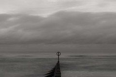 Dull Sepia (syf22) Tags: dull boring seascape horizon longexposure bore blunt still listless liveless dim lacking motion sluggish slow unintense insensible barrier groyne marker divider fence