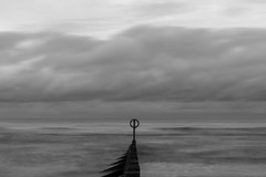 Dull Day (syf22) Tags: dull boring seascape horizon longexposure bore blunt still listless liveless dim lacking motion sluggish slow unintense insensible barrier groyne marker divider fence