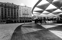 Place Rogier (kiwi photo lover) Tags: belgium bruxelles brussels place rogier central business district charleslatourrogier bw