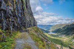 IMGP3068-Edit (jarle.kvam) Tags: oldroad road mountain path steep cliff norway norge øvreårdal sletterust holsbru