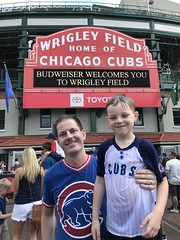 "Paul and Derek Under the Wrigley Marquee • <a style=""font-size:0.8em;"" href=""http://www.flickr.com/photos/109120354@N07/48816646403/"" target=""_blank"">View on Flickr</a>"