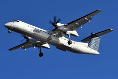 C-GLQN Bombardier Q400 at KBOS (yyzgvi) Tags: cglqn bombardier dhc8400 q400 porter airlines inc boston logan kbos bos massachusetts