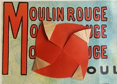 Tato Moulin Rouge by Michel Grand (ORIGr And MIchel) Tags: michelgrand envelope enveloppe origami tato toulouselautrec papiroflexia papierfalten sobre moulin molino mill