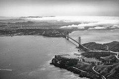 You Can't Forgive What You Can't Forget (Thomas Hawk) Tags: america bayarea california goldengatebridge northerncalifornia sf sfbayarea sanfrancisco usa unitedstates unitedstatesofamerica westcoast aerial bridge bw norcal fav10 fav25 fav50 fav100