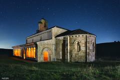 Románico castellano. (invesado) Tags: night romanico church ermita lightpainting spain castilla la mancha stars segovia