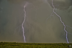 Double Take (Steven Maguire Photography) Tags: arizona cochisecounty clouds lightning landscape southwest skyscape monsoon lightningstrike sierravista