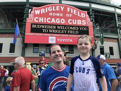 "Paul and Derek Under the Wrigley Marquee • <a style=""font-size:0.8em;"" href=""http://www.flickr.com/photos/109120354@N07/48816999771/"" target=""_blank"">View on Flickr</a>"
