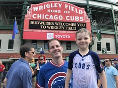 "Paul and Derek Under the Wrigley Marquee • <a style=""font-size:0.8em;"" href=""http://www.flickr.com/photos/109120354@N07/48817005591/"" target=""_blank"">View on Flickr</a>"