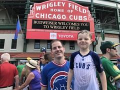 "Paul and Derek Under the Wrigley Marquee • <a style=""font-size:0.8em;"" href=""http://www.flickr.com/photos/109120354@N07/48817153587/"" target=""_blank"">View on Flickr</a>"
