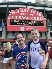 "Paul and Derek Under the Wrigley Marquee • <a style=""font-size:0.8em;"" href=""http://www.flickr.com/photos/109120354@N07/48817165102/"" target=""_blank"">View on Flickr</a>"