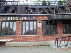 Le King Hall entrance (Quevillon) Tags: estrie easterntownships cantonsdelest canada québec sherbrooke jacquescartier lekinghall bar ratebeer